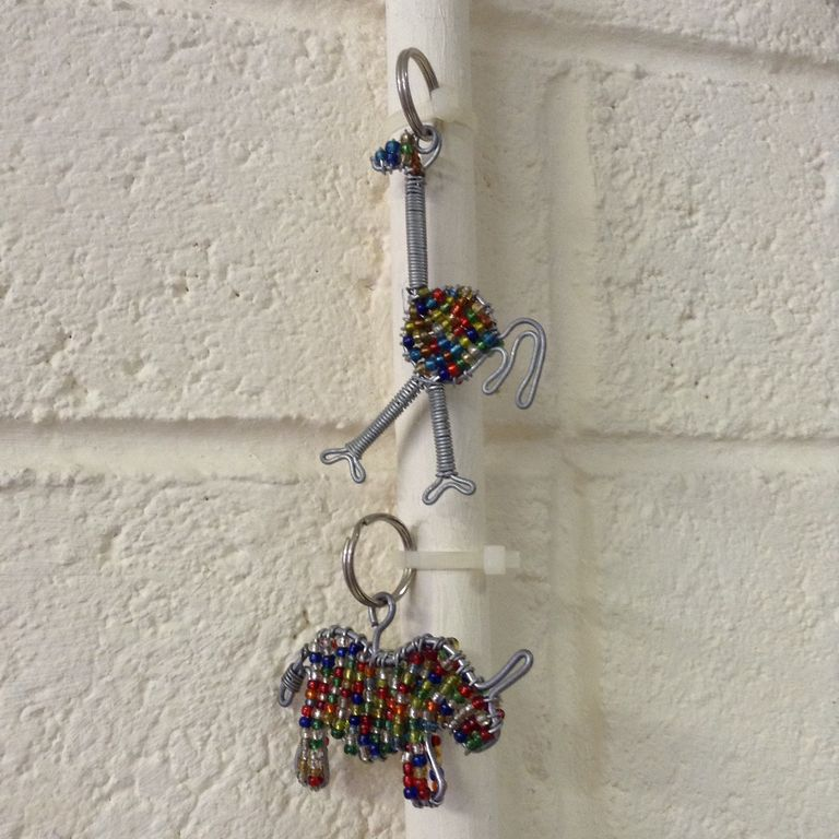 187 beaded key rings