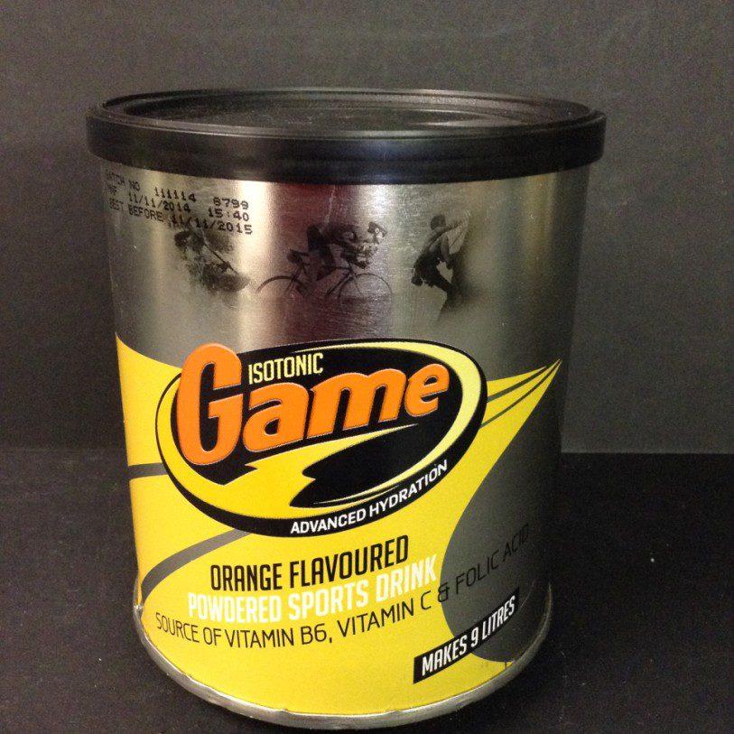 » Isotonic Game Powder Orange – 720g tin